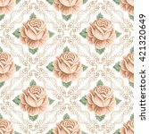 seamless pattern with hand... | Shutterstock . vector #421320649