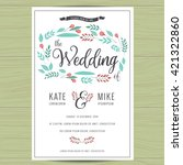 save the date  wedding... | Shutterstock .eps vector #421322860
