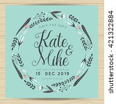save the date  wedding... | Shutterstock .eps vector #421322884
