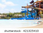Blurry Of Water Park Background.