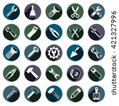 highly detailed work tools... | Shutterstock .eps vector #421327996