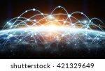 network connections between... | Shutterstock . vector #421329649