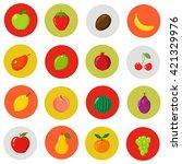 set of cartoon fruits on the...   Shutterstock .eps vector #421329976