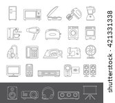 line icons   home appliances   Shutterstock .eps vector #421331338