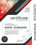 certificate template with clean ... | Shutterstock .eps vector #421332670