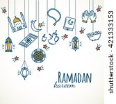 ramadan kareem background.... | Shutterstock .eps vector #421333153