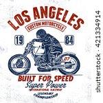 los angeles motorcycle... | Shutterstock .eps vector #421334914