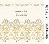 vintage islamic style brochure. ...   Shutterstock .eps vector #421334920