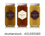 realistic gass jar with with... | Shutterstock .eps vector #421335283