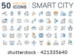 set vector line icons with open ... | Shutterstock .eps vector #421335640