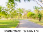 blur background park  | Shutterstock . vector #421337173