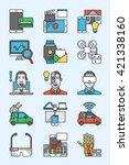 outline vector set technology... | Shutterstock .eps vector #421338160