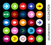 arrow icon set  arrows in... | Shutterstock .eps vector #421342924