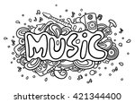"hand drawn word ""music"" 