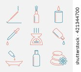 aromatherapy oils icons set.... | Shutterstock .eps vector #421344700