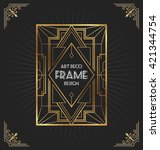 art deco frame design for your... | Shutterstock .eps vector #421344754
