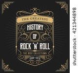 vintage western frame and... | Shutterstock .eps vector #421344898