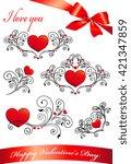 love hearts    Shutterstock . vector #421347859