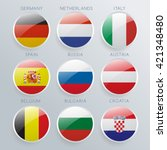 World Flag Glass Icon Set  ...