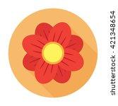 flower icon flat floral user... | Shutterstock .eps vector #421348654