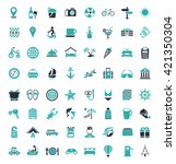 travel and tourism icons   Shutterstock .eps vector #421350304