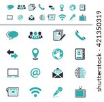media and communication icons | Shutterstock .eps vector #421350319