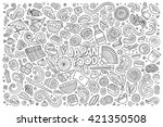 line art vector hand drawn... | Shutterstock .eps vector #421350508