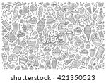 line art vector hand drawn... | Shutterstock .eps vector #421350523