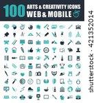 art icons | Shutterstock .eps vector #421352014