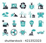 ecology icons | Shutterstock .eps vector #421352323