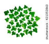 green bright pattern made of...   Shutterstock . vector #421352863