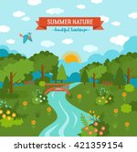 Summer Nature Awesome Cartoon...