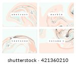 a set of four marble textures... | Shutterstock .eps vector #421360210