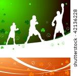 boxing on irish pride background | Shutterstock .eps vector #42136228
