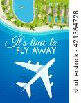 tourism theme poster. white... | Shutterstock .eps vector #421364728