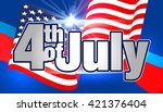 4th of july. fourth of july... | Shutterstock .eps vector #421376404