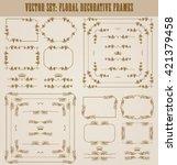 vector set of decorative hand... | Shutterstock .eps vector #421379458
