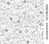 seamless hand drawn background... | Shutterstock . vector #421382860