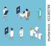 flat 3d isometric medical... | Shutterstock .eps vector #421385788