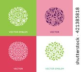vector set of logo design... | Shutterstock .eps vector #421385818