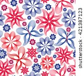 bright seamless pattern with... | Shutterstock .eps vector #421387123