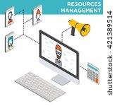 flat resources management... | Shutterstock .eps vector #421389514