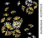 circles of brush strokes.... | Shutterstock .eps vector #421393114