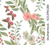 watercolor seamless pattern... | Shutterstock . vector #421396180