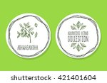 ayurvedic herb collection.... | Shutterstock .eps vector #421401604