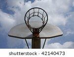 basketball against a cloudy sky | Shutterstock . vector #42140473