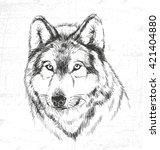 wolf  wild animals. see also... | Shutterstock .eps vector #421404880