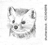 marten  wild animals. see also... | Shutterstock .eps vector #421404898