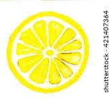 watercolor illustration of... | Shutterstock . vector #421407364