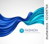 flying silk fabric. fashion... | Shutterstock .eps vector #421409764